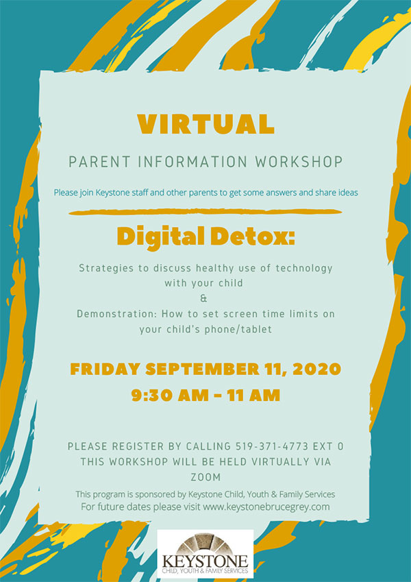 Digital Detox Workshop flyer