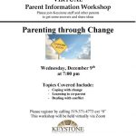 VIRTUAL Parent Information Workshop – Parenting Through Change