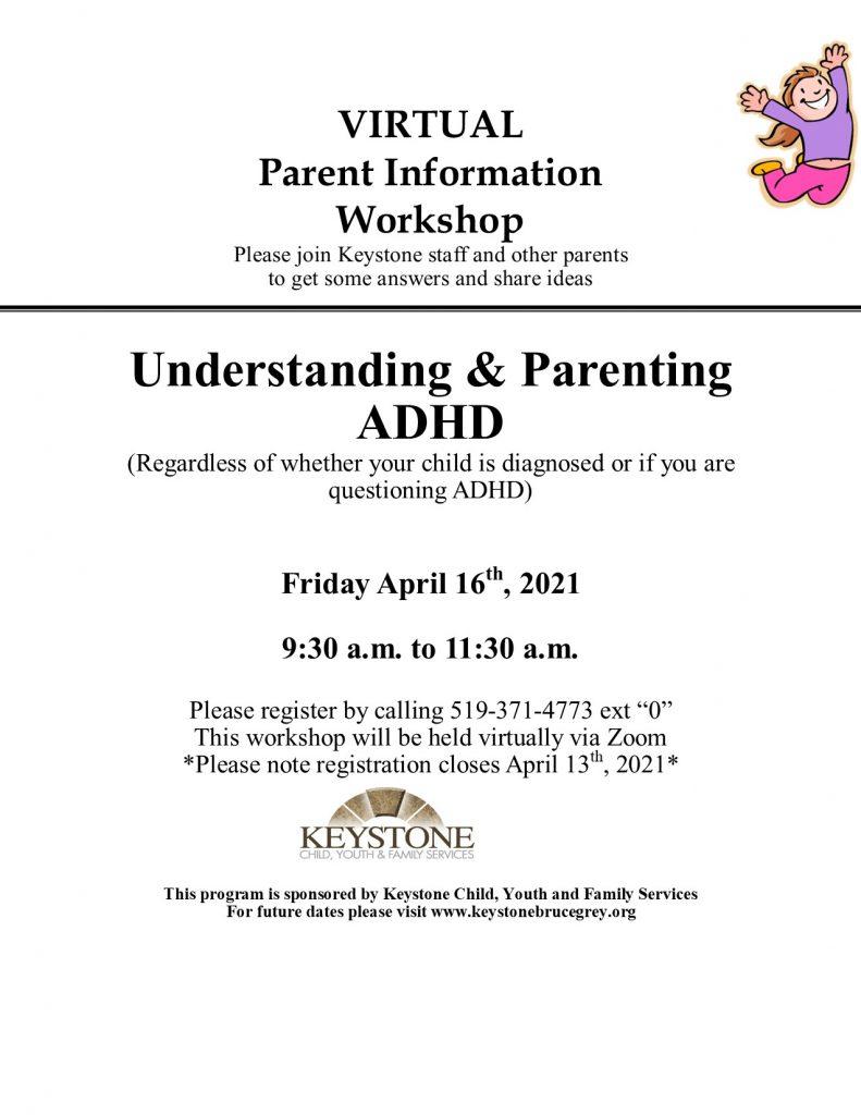 ADHD workshop April