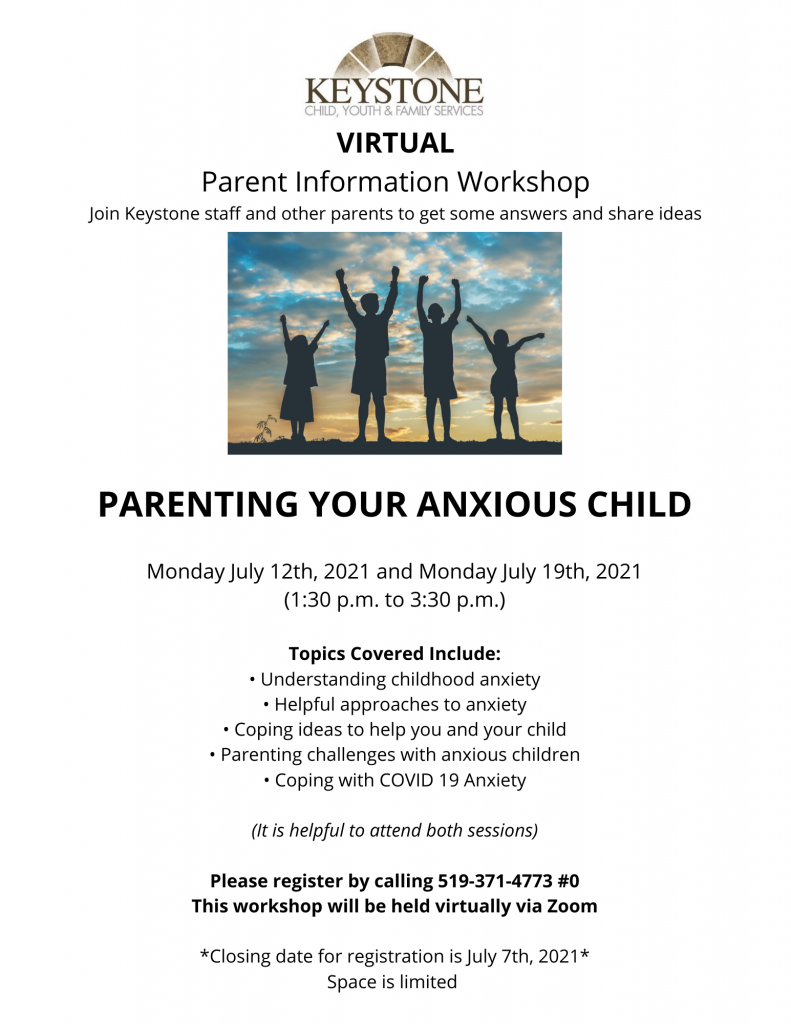 parent workshop on anxiety